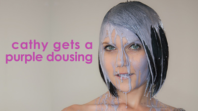 Cathy's purple dousing