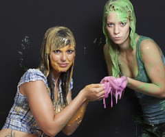 Tammy & Leslie and lots of slime